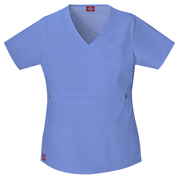 Dickies Medical 817355 Youtility Contrast Stitch Mock Wrap Top