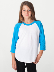 American Apparel BB253 Yth 34 Sleeve Raglan