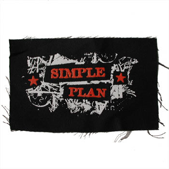 Simple Plan - Scratched Stars Patch - Accessories
