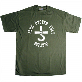 Blue Oyster Cult - Logo on Olive - T-shirts