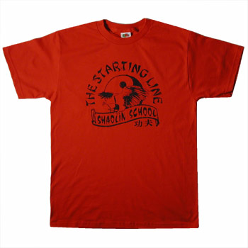 The Starting Line - Shaolin School on Red - T-shirts