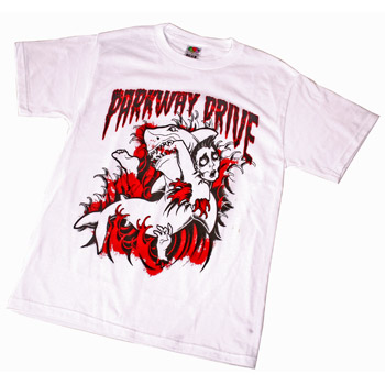 Parkway Drive - Shark Attack on White - T-shirts