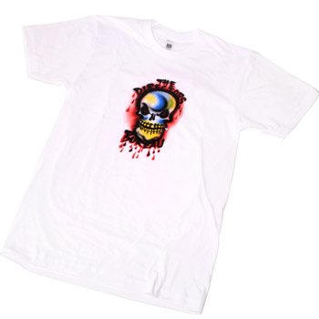 The Directors Bureau - Skull on White Slim Fit Fine Jersey - T-shirts