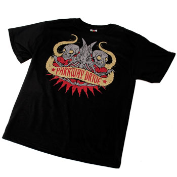 Parkway Drive - Winged Skeletons on Black - T-shirts