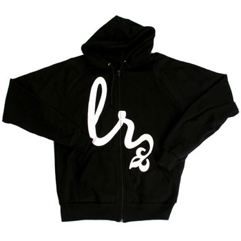 Lights Resolve - Flourish Script Emblem on Black Sweatshirt - Sweatshirts