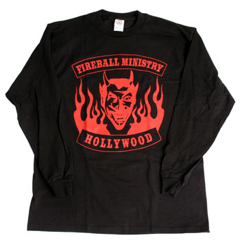 Fireball Ministry - Devil's Head on Black Long Sleeve - T-shirts