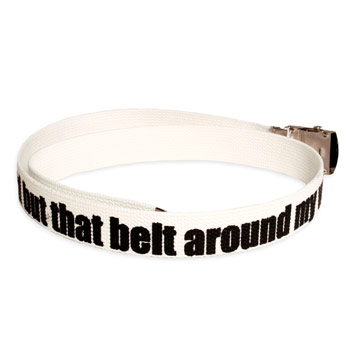 Say Anything - White Belt - Accessories