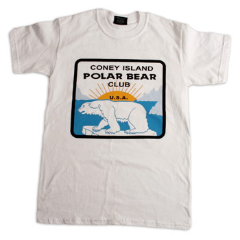 Coney Island Polar Bear Club - White Logo T - T-shirts