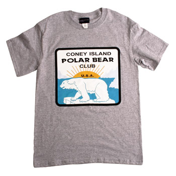 Coney Island Polar Bear Club - Grey Logo T - T-shirts