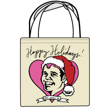 Perez Hilton - Happy Holidays Love Perez Tote - Sale Items