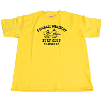 Fireball Ministry - Surf Club on Yellow - T-shirts