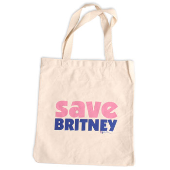 Perez Hilton - Save Britney Natural Tote Bag - Accessories