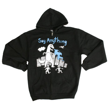 Say Anything - Dinosaur Zip Up - Sweatshirts