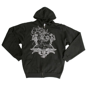 I Am Ghost - Praying Skeletons on Black Zip Up - Sweatshirts