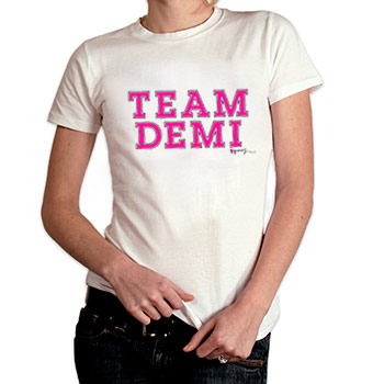 Perez Hilton - Team Demi Women's Fine Jersey Slim Fit - Women's