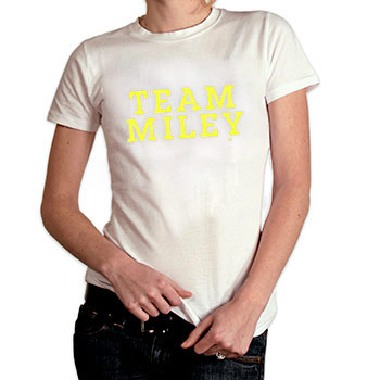 Perez Hilton - Team Miley Women's Fine Jersey Slim Fit - Women's