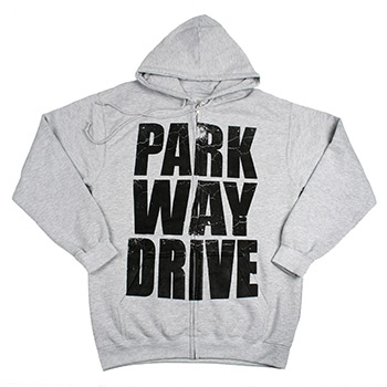 Parkway Drive - Stacked Logo on Heather Grey Zip Up - Sweatshirts