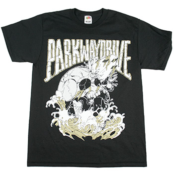 Parkway Drive - Surfboard Skull on Black - T-shirts