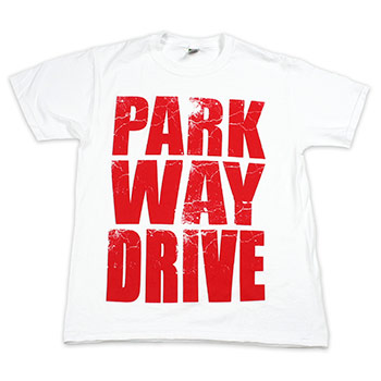 Parkway Drive - Stacked Logo on White - T-shirts