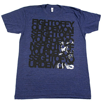 Brand New - Fight Off Your Demons on American Apparel Tri-Blend Indigo - T-shirts