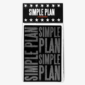 Simple Plan - 5 Sticker Pack 2008 - Accessories