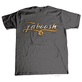 Perez Hilton - Faboosh Goldscript on Charcoal Fine Jersey Slim Fit - T-shirts