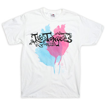 Two Tongues - Logo on White - T-shirts