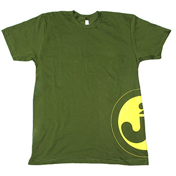 Just Jared - Junior Circle on Olive American Apparel Fine Jersey Slim Fit - T-shirts