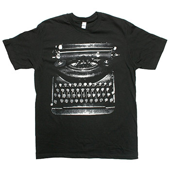 Thursday - Typewriter on Black Fine Jersey Slim Fit - T-shirts