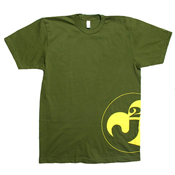 Just Jared - Junior Heart on Olive American Apparel Fine Jersey Slim Fit - T-shirts