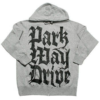 Parkway Drive - Old E Stacked Logo on Gunmetal Heather Zip Up - Sweatshirts