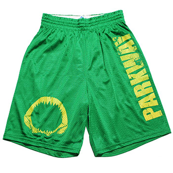 Parkway Drive - Shark Jaw Yellow on Kelly Green Mesh - Shorts