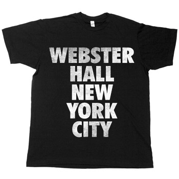 Webster Hall - Webster Hall Classic Tee on Black - T-shirts