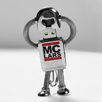 MC Lars - 4 GB USB Robot Keyring with Digital Discography - Collectibles