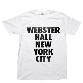 Webster Hall - Webster Hall Classic Tee on White - T-shirts