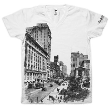 Webster Hall - 1920's Cityscape V-Neck Tee (Special Edition!) - T-shirts