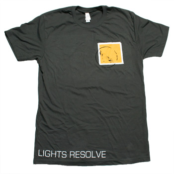 Lights Resolve - Yellow Stamp on Charcoal Fine Jersey Slim Fit - T-shirts