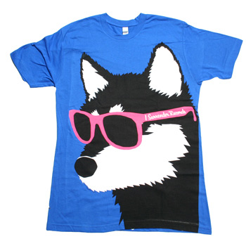 I Surrender Records - Wolf Oversized on Royal Blue Fine Jersey Slim Fit - T-shirts