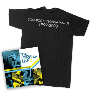 The Starting Line - Somebodys Gonna Miss Us CD/DVD T-Shirt Bundle - T-shirts