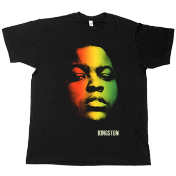 Sean Kingston - Rasta on Black Fine Jersey Slim Fit - T-shirts