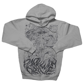 Parkway Drive - Exploding Pirate on Gunmetal Heather Zip Up - Sweatshirts