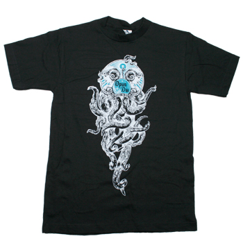 Opus Dai - Tentacle Twins on Black - T-shirts