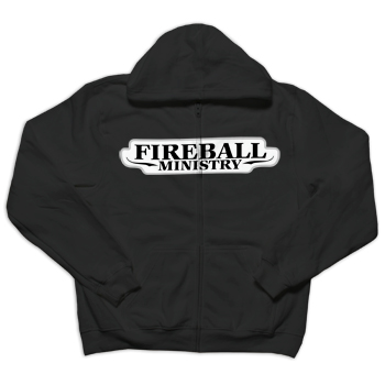 Fireball Ministry - Jacket Patch on Black Zip Up - Sweatshirts