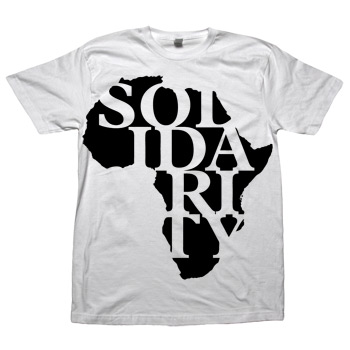 Sparrow Media - Solidarity on White American Apparel Fine Jersey - T-shirts