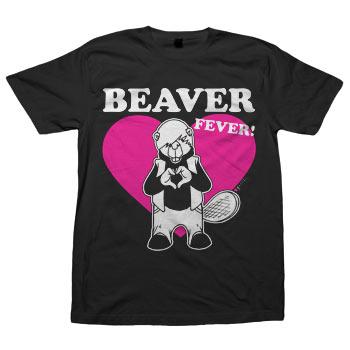 Perez Hilton - Beaver Fever on Unisex Black Fine Jersey Tee - T-shirts