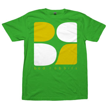 Bad Rabbits - Logo on Green - T-shirts