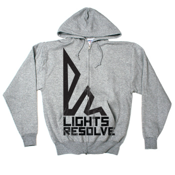 Lights Resolve - Triangle on Gunmetal Heather Slim Fit Zip Up - Sweatshirts