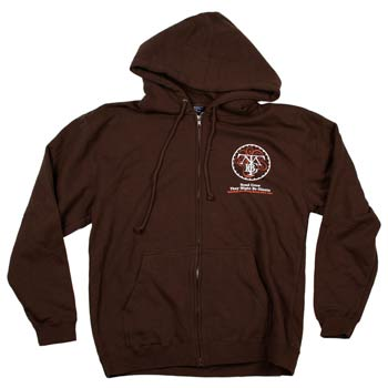 They Might Be Giants - Road Crew on Brown Zip Up - Sweatshirts