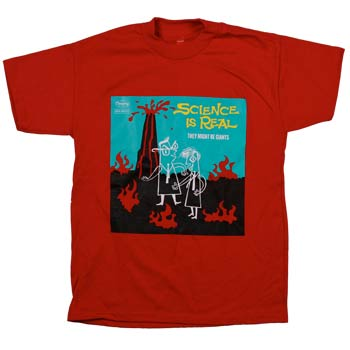 They Might Be Giants - Science on Red - T-shirts