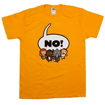 They Might Be Giants - NO! on Yellow - T-shirts